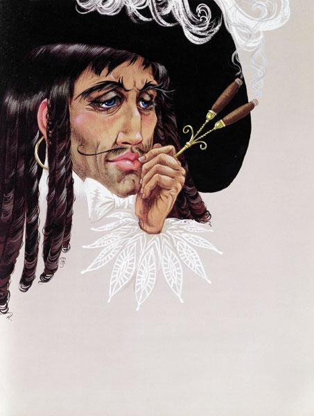 Captain Hook, from ''Peter Pan'' by J.M. Barrie (gouache on paper)