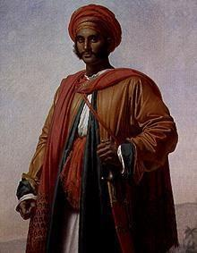 Portrait of an Indian.