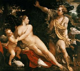 Carracci, Annibale : Adonis finds Venus.