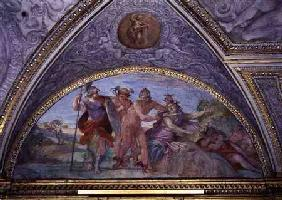 Lunette depicting Perseus Slaying the Medusa, from the 'Camerino'