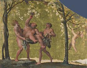 Silenus gathering Grapes