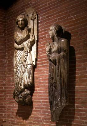 Figures of the Annunciation, from the exterior of St. Sernin