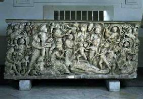 Frieze from a sarcophagus depicting the legend of Prometheusfrom Pozzuoli