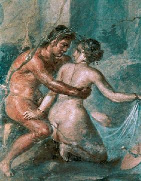 Satyr and Maenaddetail from a wall painting in Pompeii