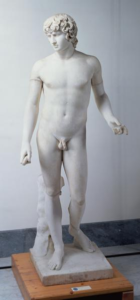 Male nudepossibly Antinous 130-138 AD