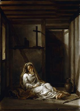 Saint Thaïs in her cell