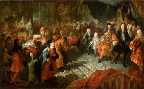 Louis XIV receiving the Persian Ambassador in the Galerie des Glaces at Versailles, 19th February 17