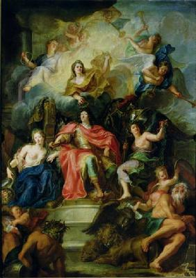 Louis XIV (1638-1715) Crowned by Glory