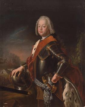 Portrait of Christian August, Prince of Anhalt-Zerbst (1690-1747), the father of Catherine the Great