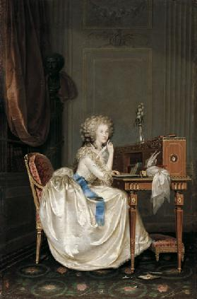 Portrait of Marie Louise of Savoy (1749-1792), Princess of Lamballe
