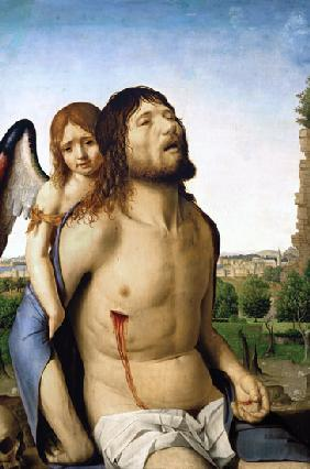 da Messina, Antonello : An angel supports the body...