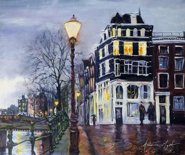 At Dusk, Amsterdam, 1999 (oil on canvas)
