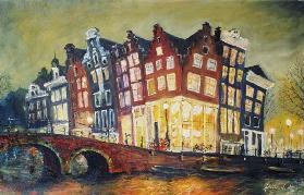 Bright Lights, Amsterdam, 2000 (oil on canvas)