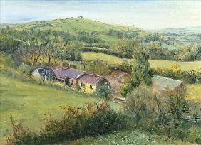 Meadow Farm Cottage, 1999 (oil on canvas)