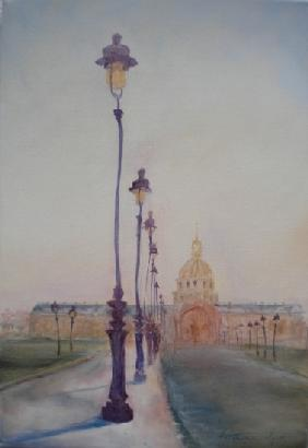 Lamp Post in front of Dome Church