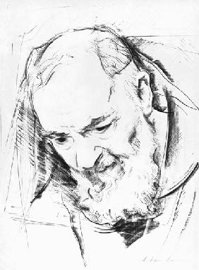 Study for a Padre Pio Monument, 1979-80 (charcoal on paper) (b&w photo)