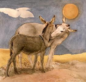 Donkeys, 1989 (fresco)