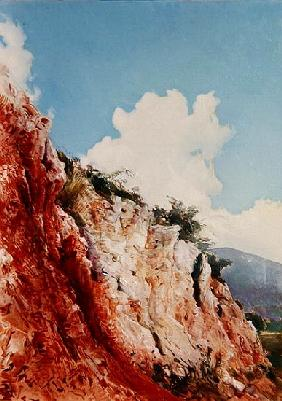 Terra Rossa sul Gargano, 1981 (oil on canvas)