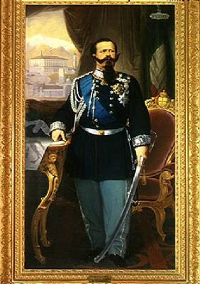 Portrait of Victor Emmanuel II (1820-78) King of Sardinia and Italy