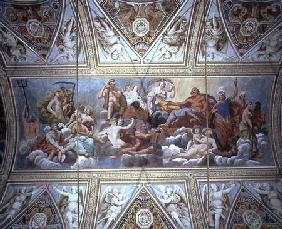 The Gods on Olympus, ceiling painting