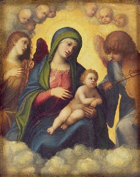 Madonna and Child and child in Glory, c.1520
