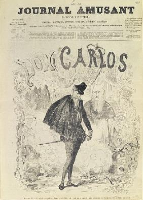 Front page of ''Le Journal Amusant'', with a caricature of Don Carlos, from the opera ''Don Carlos''