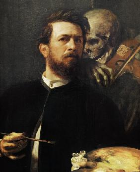 Self Portrait with Death with a Violin