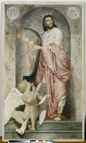 King David with the harp