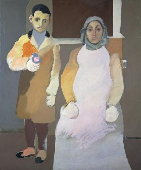 The artist and his mother, ca 1926-1936, by Arshile Gorky (1904-1948), oil on canvas, 152x127 cm. Un