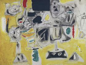 Landscape-Table, 1945, by Arshile Gorky (1904-1948), oil on canvas, 92x121 cm. United States of Amer