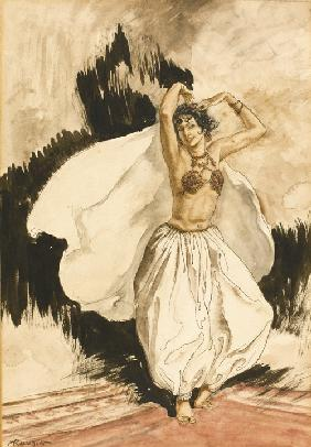Anitra's Dance. Illustration for Peer Gynt by Henrik Ibsen