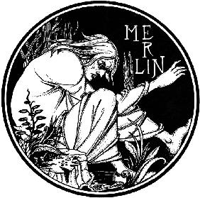 "Merlin. Illustration to the book ""Le Morte d'Arthur"" by Sir Thomas Malory"