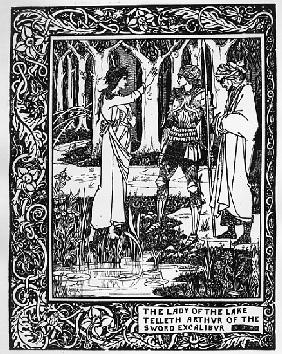 The Lady of the Lake telleth Arthur of the sword Excalibur, illustration from ''Le Morte d''Arthur''