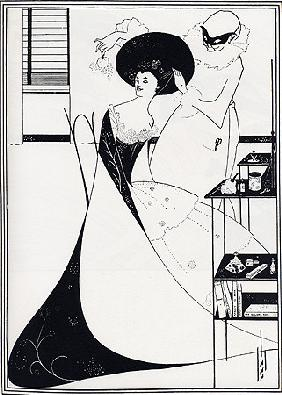 Beardsley, Aubrey Vincent : The toilet of Salome