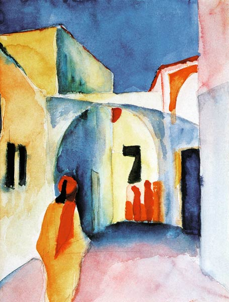 Expressionism art print by August Macke - View of a Street