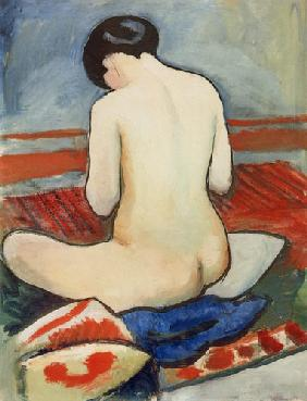 resting nude with pillow 1911