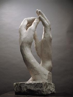 The Cathedral by Auguste Rodin (1840-1917) (plaster)