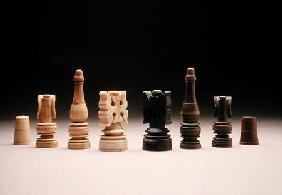Chess pieces (ivory and wood)