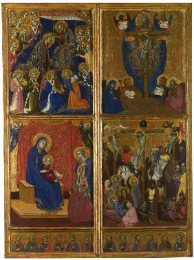 The Coronation of the Virgin. The Trinity. The Virgin and Child with Donors. The Crucifixion. The Tw