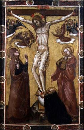 Christ Crucified - Painted Processional Banner