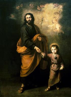 Saint Joseph with the child Jesus