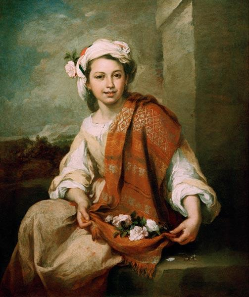 B.E.Murillo, Flower Girl-Spring / Paint.