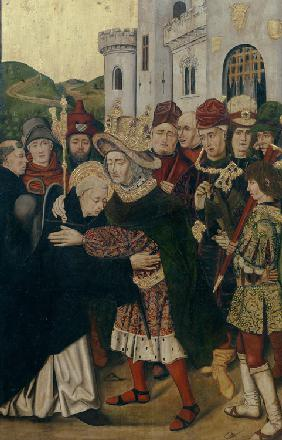 King Ferdinand I of Castile welcomed Saint Dominic of Silos