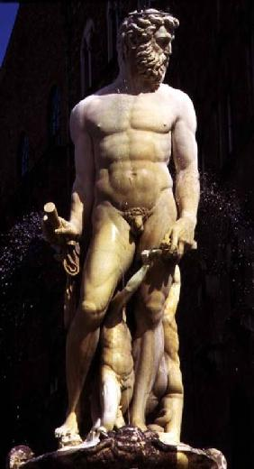 The Fountain of Neptune, detail of the figure of Neptune