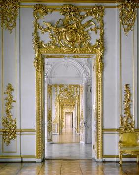 The Golden Suite, an enfilade of carved and gilded portals in the Catherine Palace (photo)