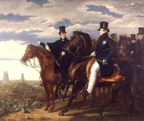 The Duke of Wellington describing the Field of Waterloo to King George IV (1762-1830)