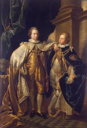 Portrait of George, Prince of Wales, and Prince Frederick, later Duke of York