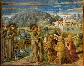 Saint Francis Preaches to the Birds (from Legend of Saint Francis)