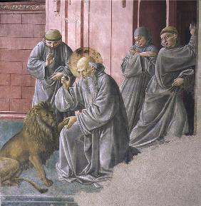 St Jerome and the lion, Fresco