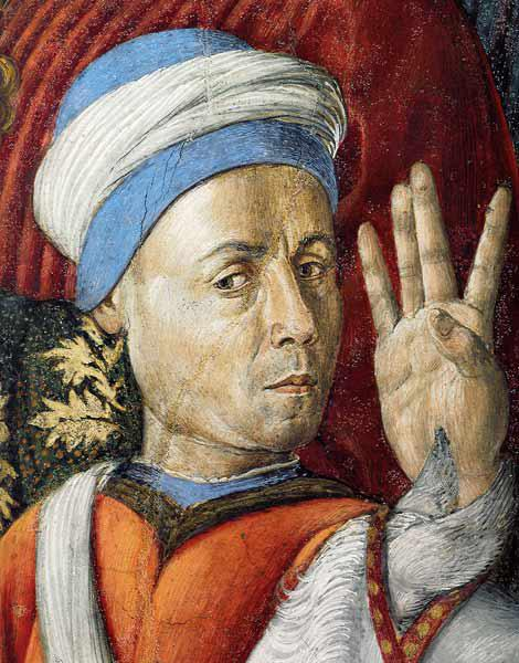Self Portrait (Detail of the Fresco from the Magi Chapel of the Palazzo Medici Riccardi)
